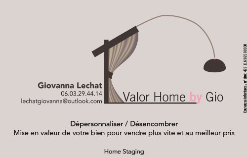 Logo Carte De Visite Pour Le Home Staging
